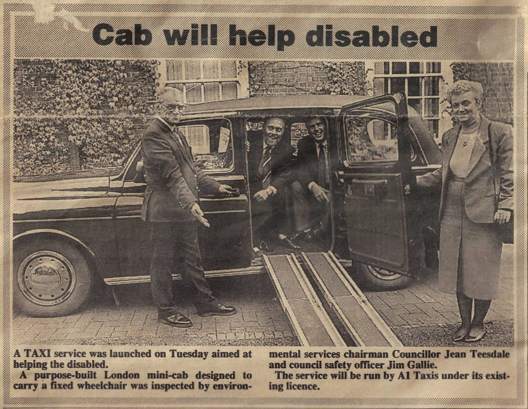 Wheelchair-accessible taxi introduced into service - circa 1991