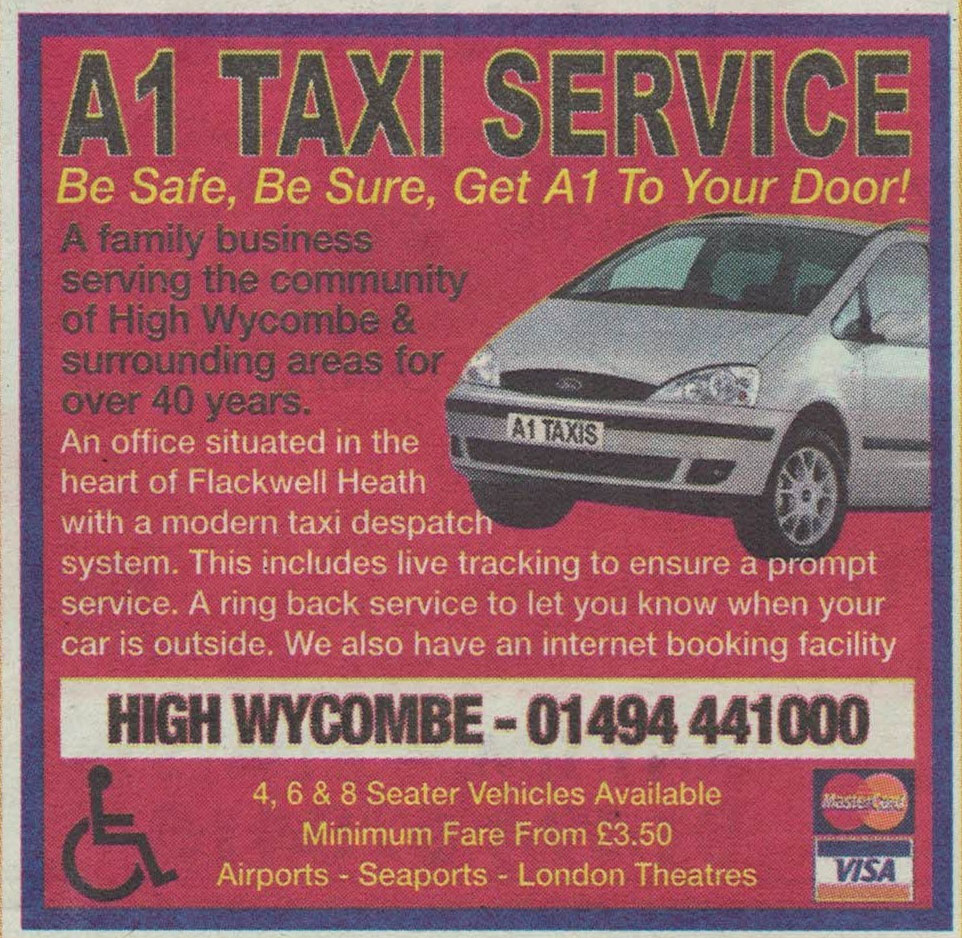 Advertising in the High Wycombe paper - circa 2011
