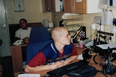 Les and David hard at work in the Flackwell Heath office - circa 2006
