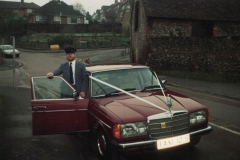 TAXI12S with driver in Copyground Lane, High Wycombe - circa 1990